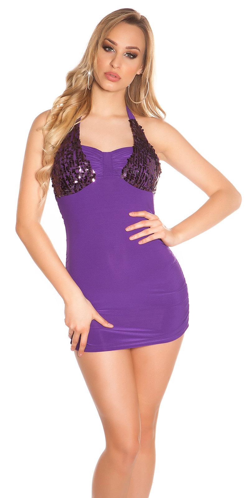 Krátké šaty 0000K10285-N - purple
