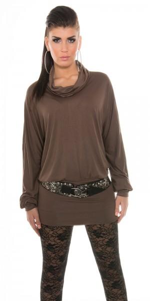 Trendy KouCla Oversize Rollkragenlangarmshirt