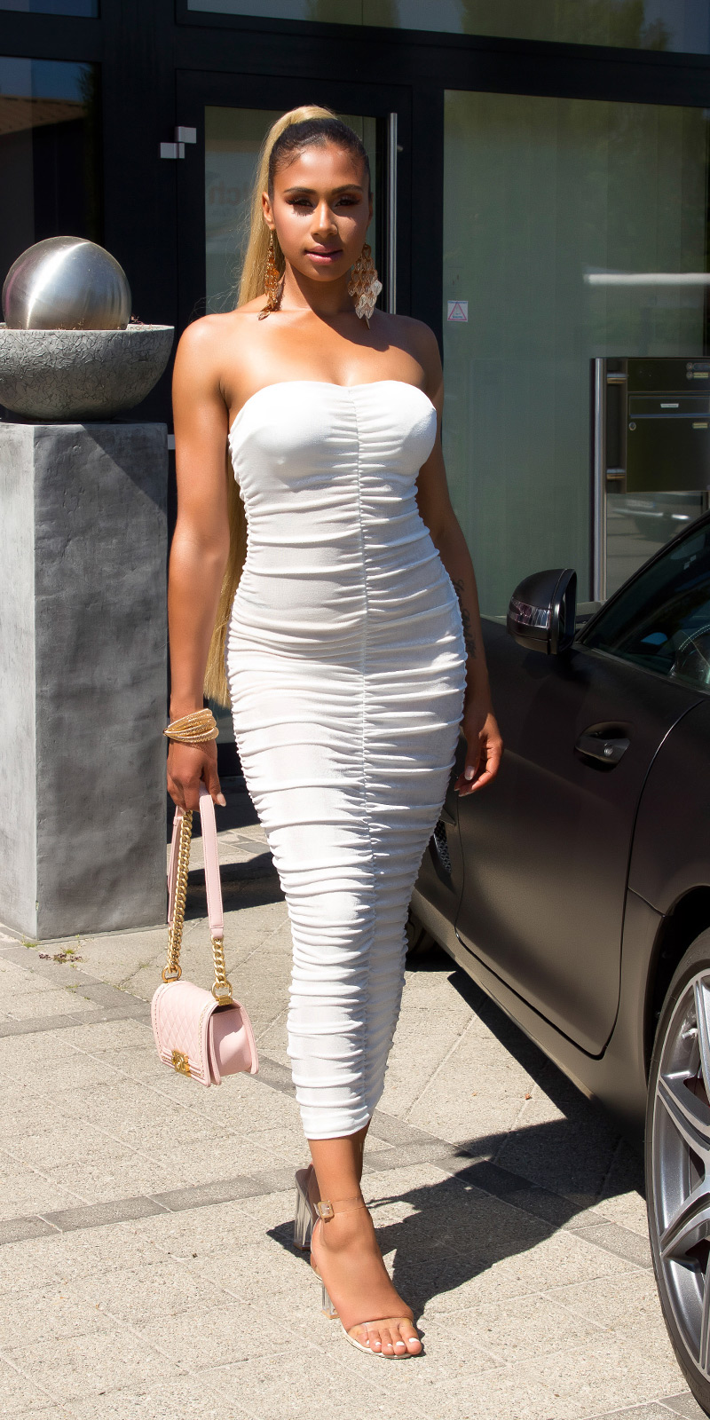 Dlouhé šaty 0000K14972 - white