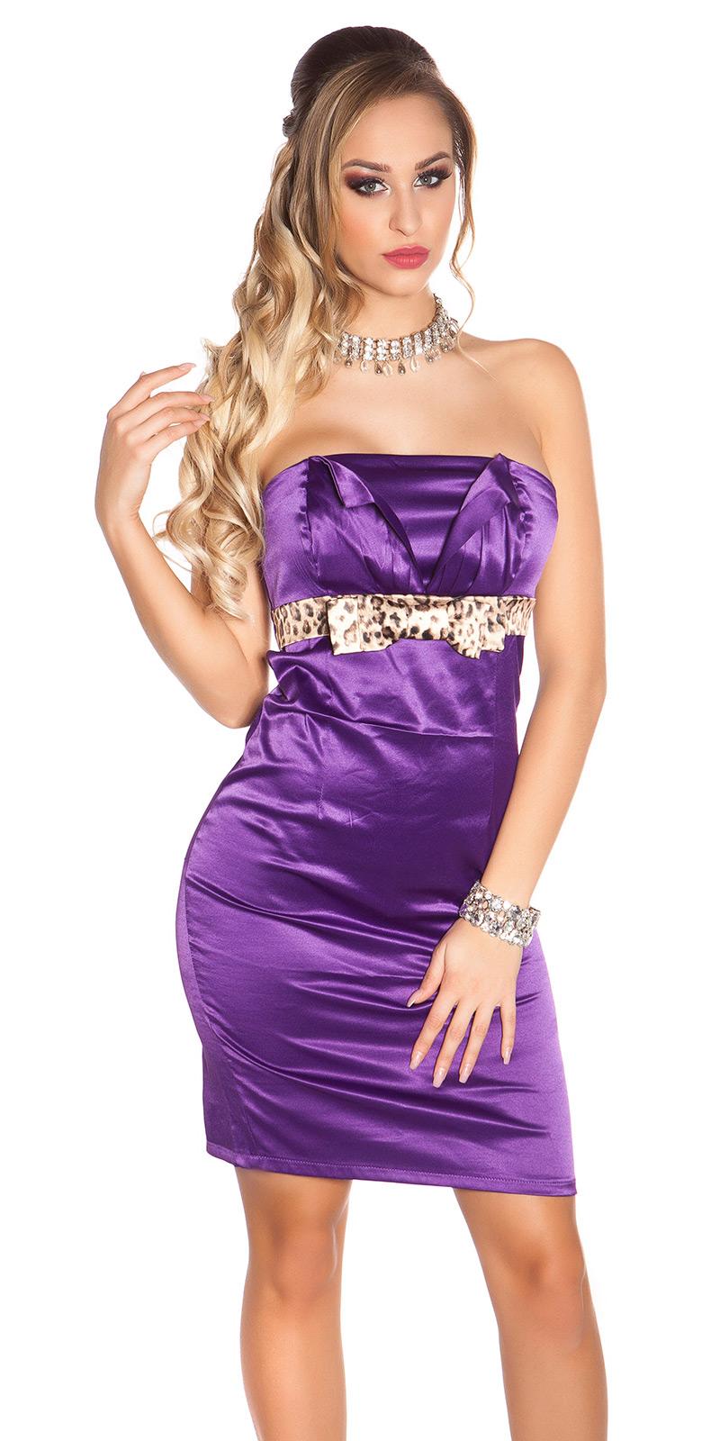 Koktejlové šaty 0000IDO-0874 - purple