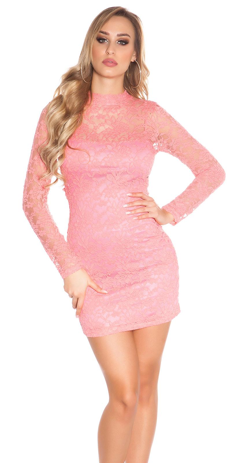 Šaty s dlouhým rukávem 0000IN50161 - Coral