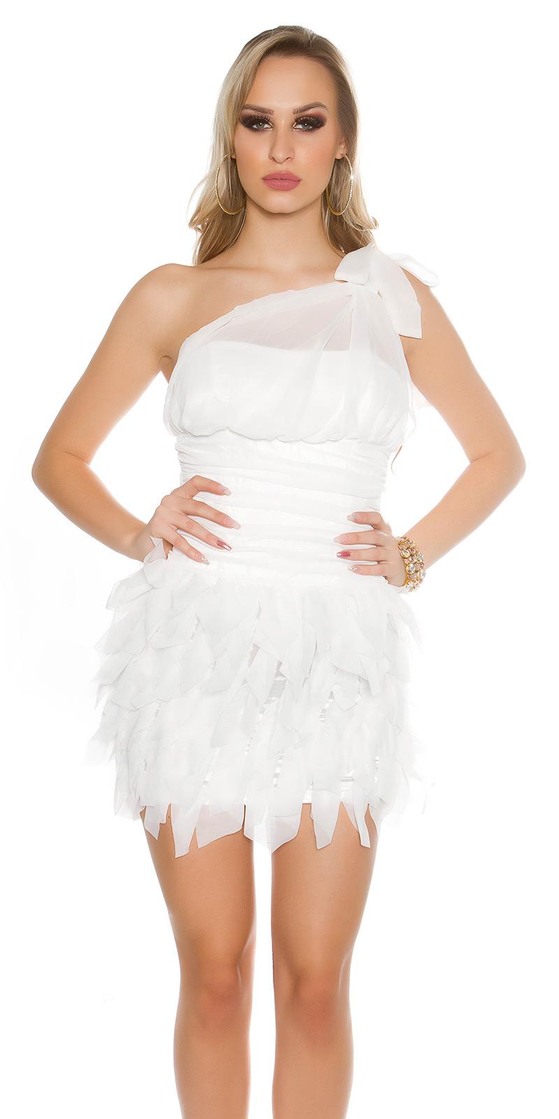 Koktejlové šaty 0000ISF1582 - white