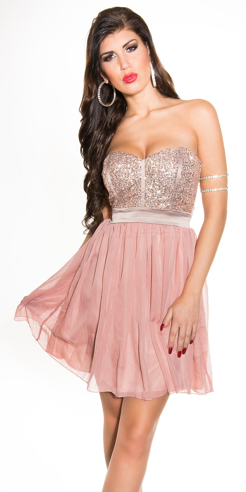 Koktejlové šaty 0000IN50143 - Rose