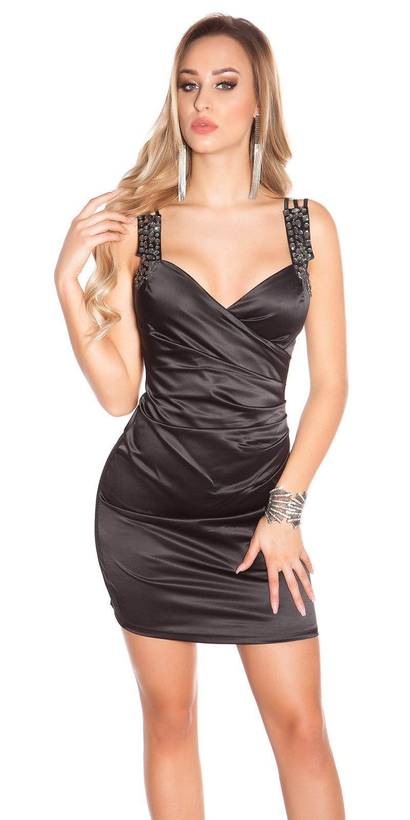 Koktejlové šaty 0000C130 - Black
