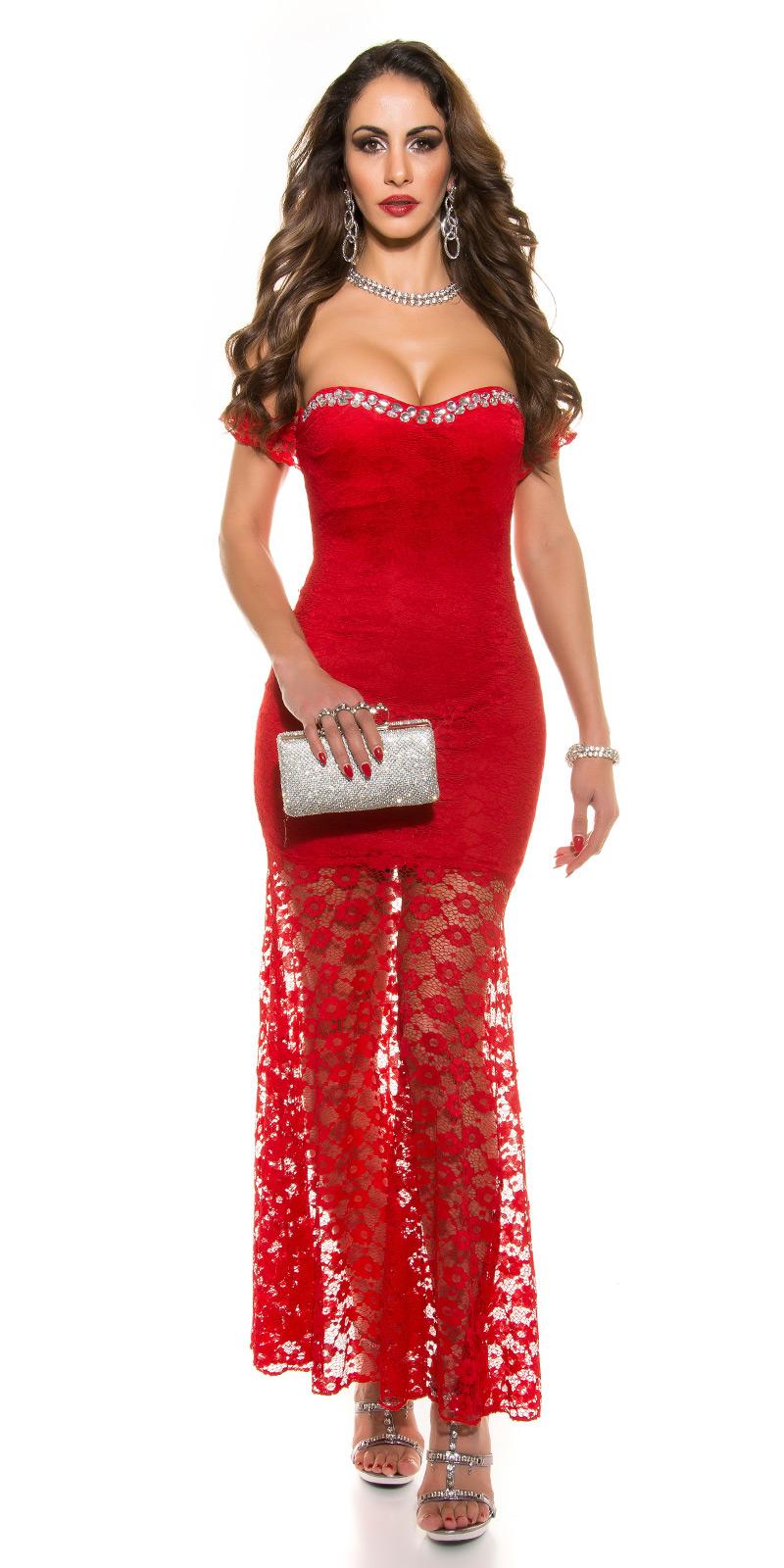 Plesové šaty 0000K9128 - red