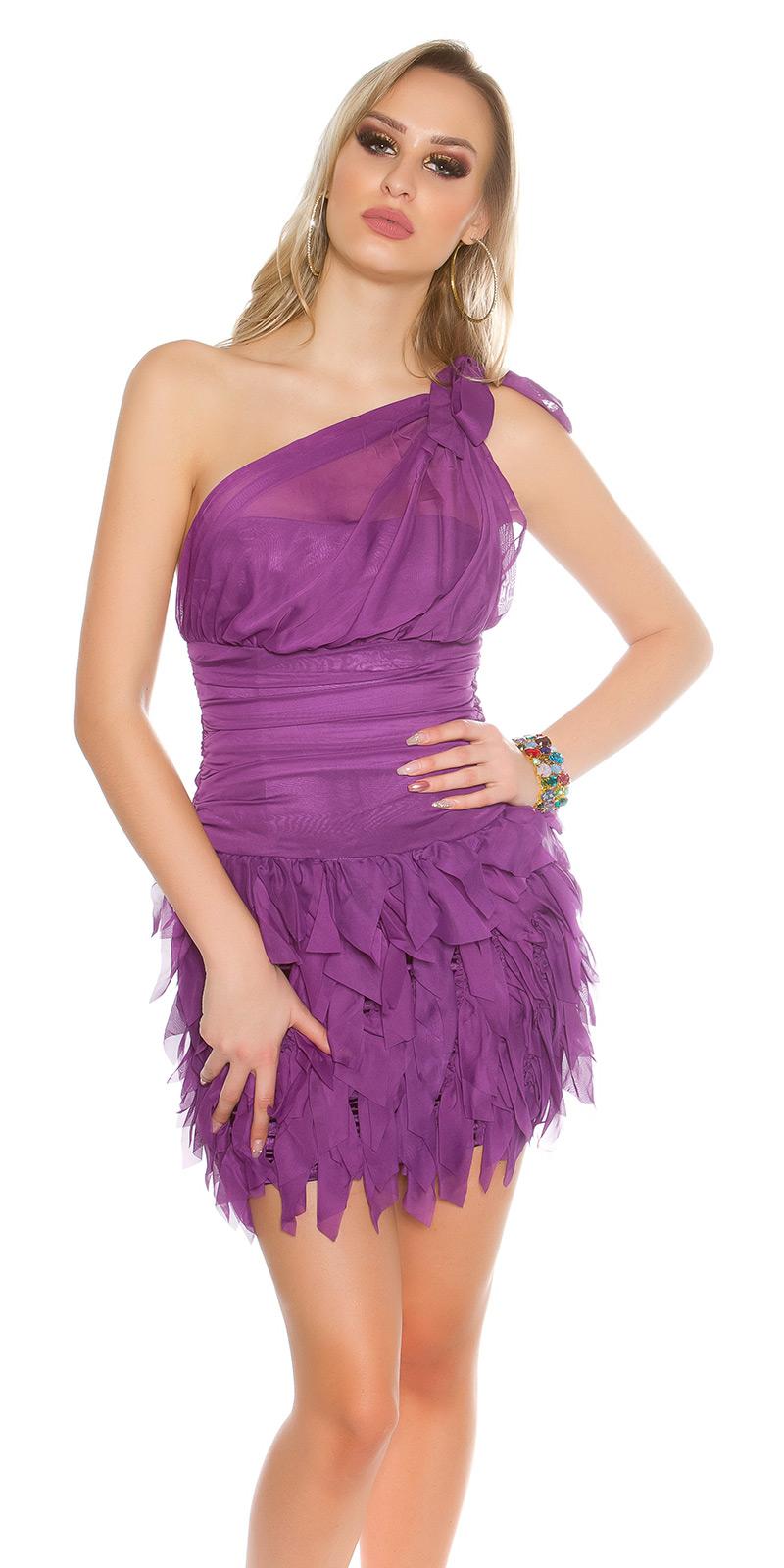 Koktejlové šaty 0000ISF1582 - purple