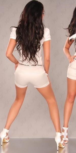 Sexy Shorts mit Seitentaschen und Leogürtel