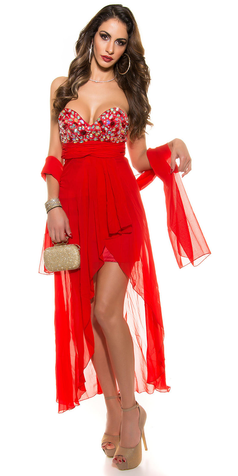 Plesové šaty 0000IN50569 - red