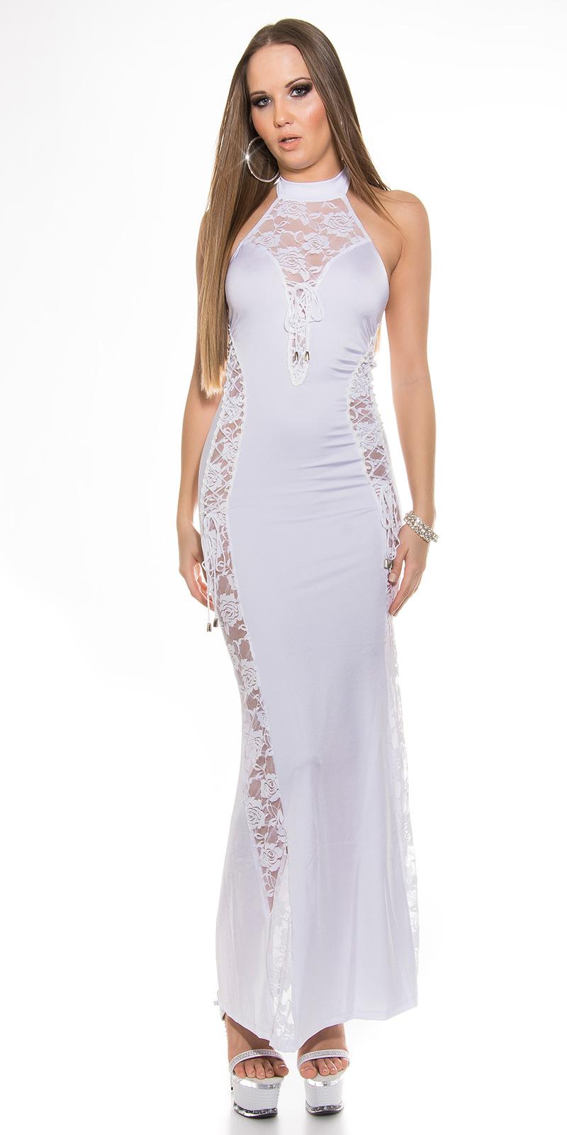 Dlouhé šaty 0000ISF-G5 - white