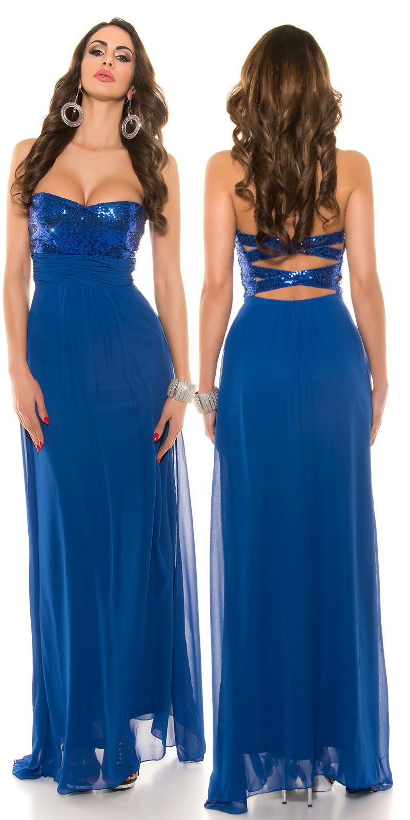 Dlouhé šaty 0000IN50590 - royalblue