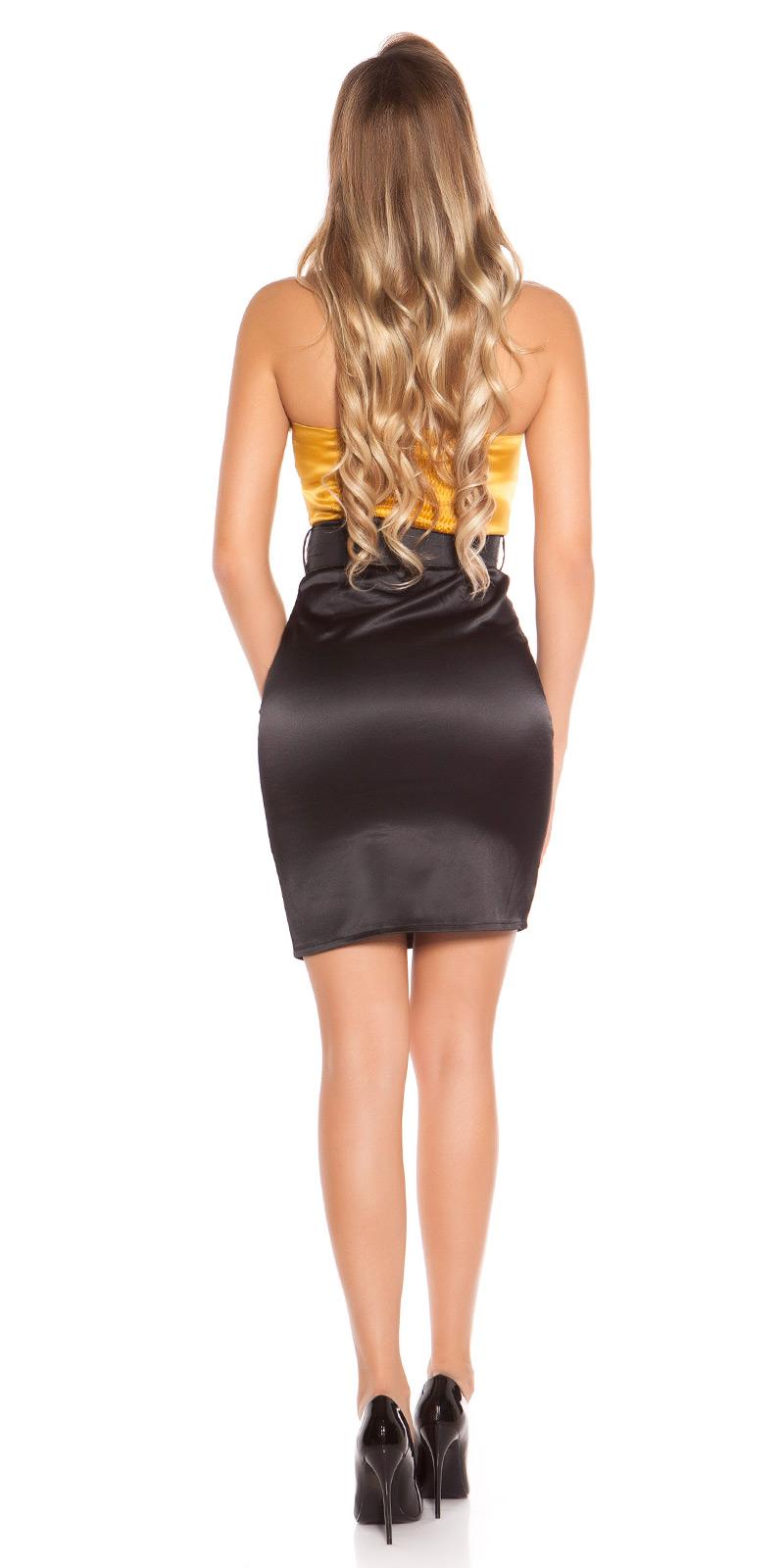 Koktejlové šaty 0000DCS05571-N - Gold