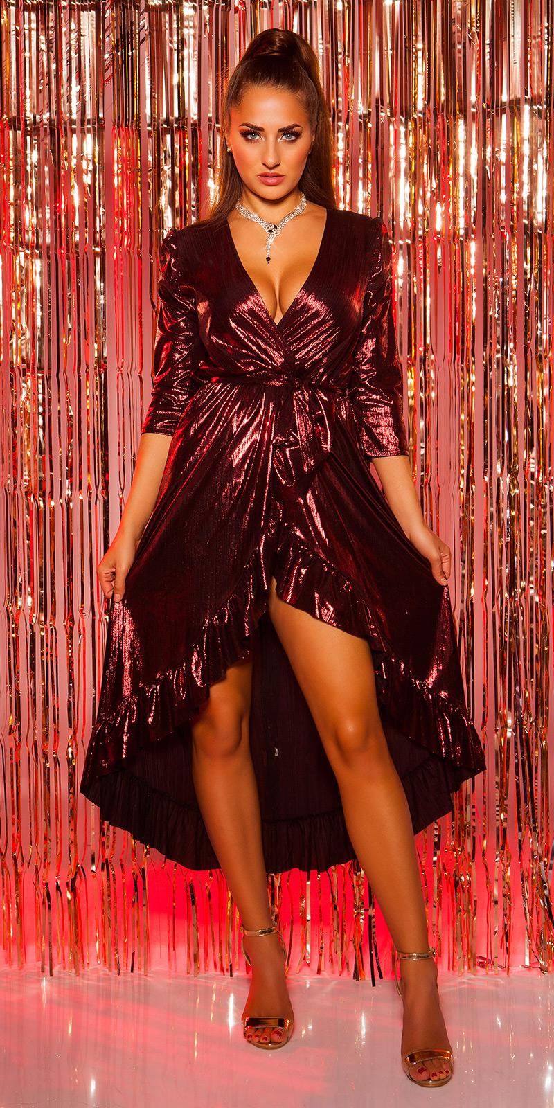 Plesové šaty 0000K3521 - red