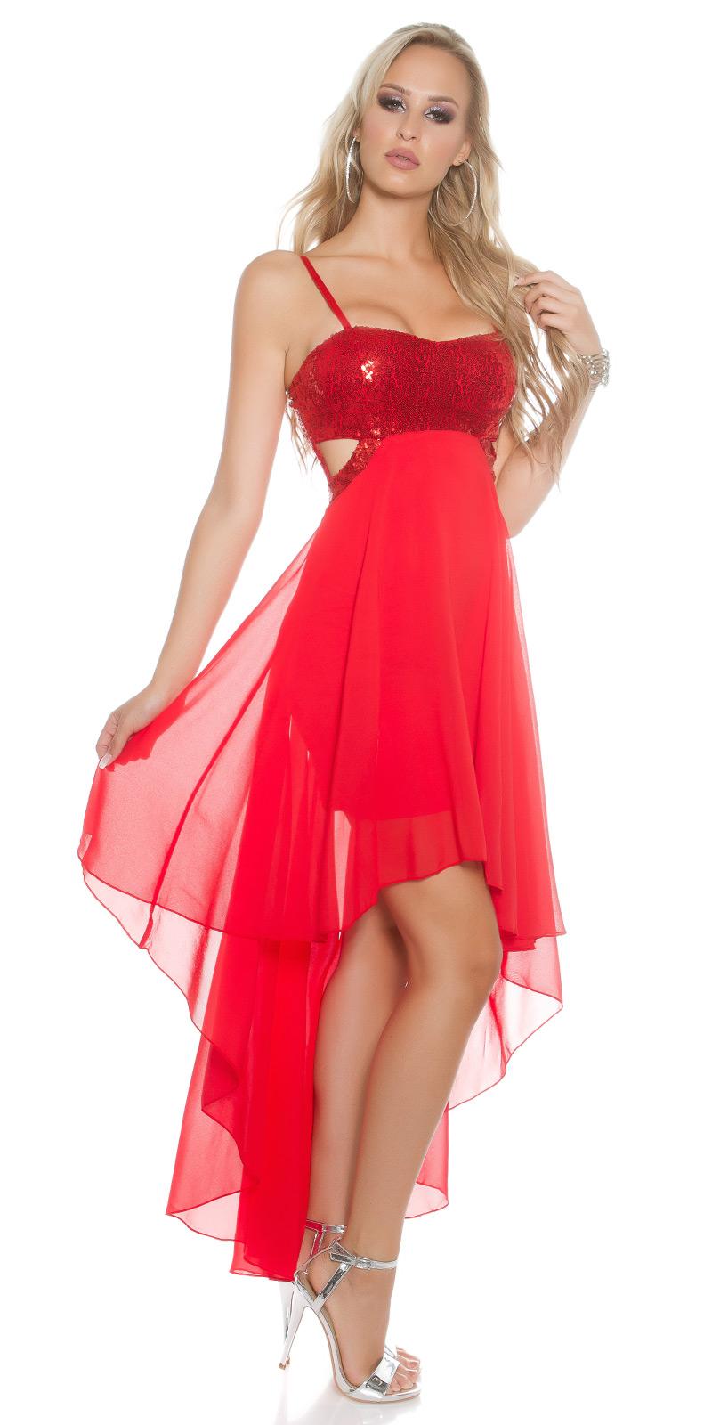 Plesové šaty 0000K9325 - red