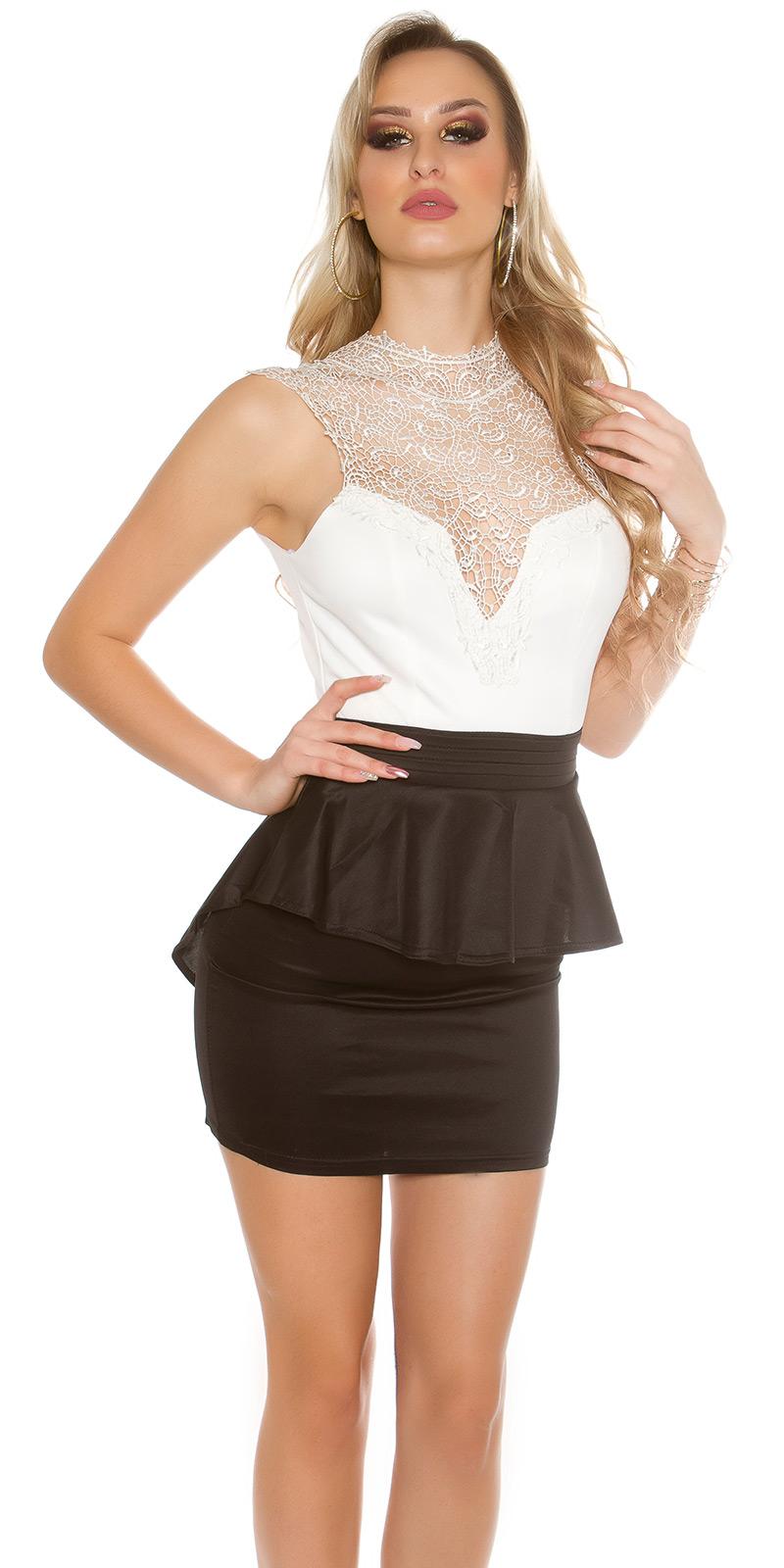Koktejlové šaty 0000IN50176 - whiteblack