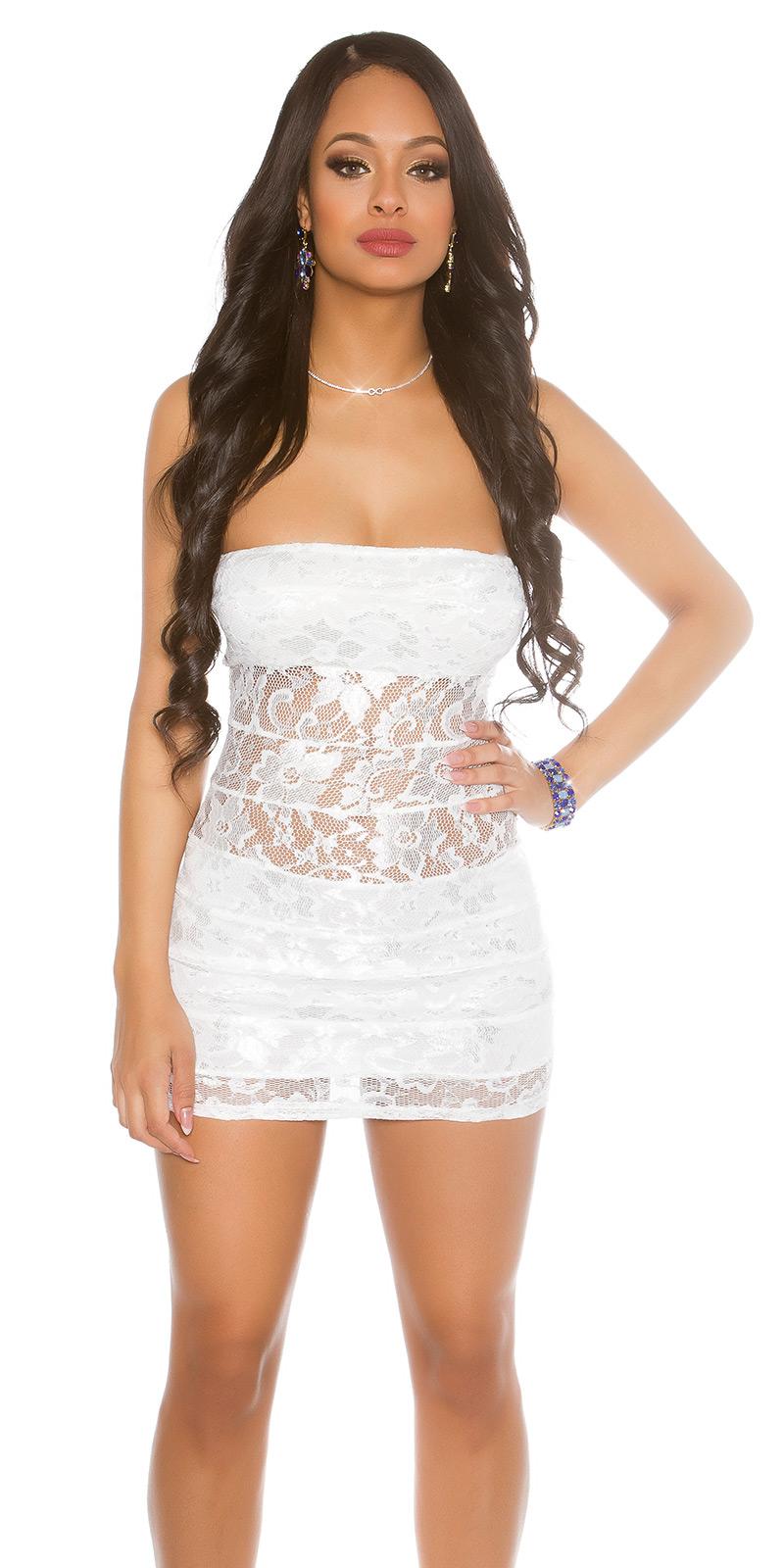 Krátké šaty 0000ISFIN50068-N - white