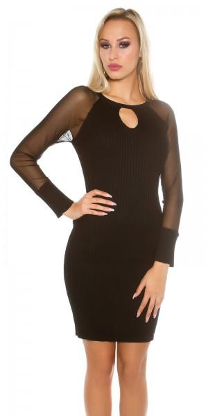 Sexy KouCla Strick Kleid mit Keyhole Cut