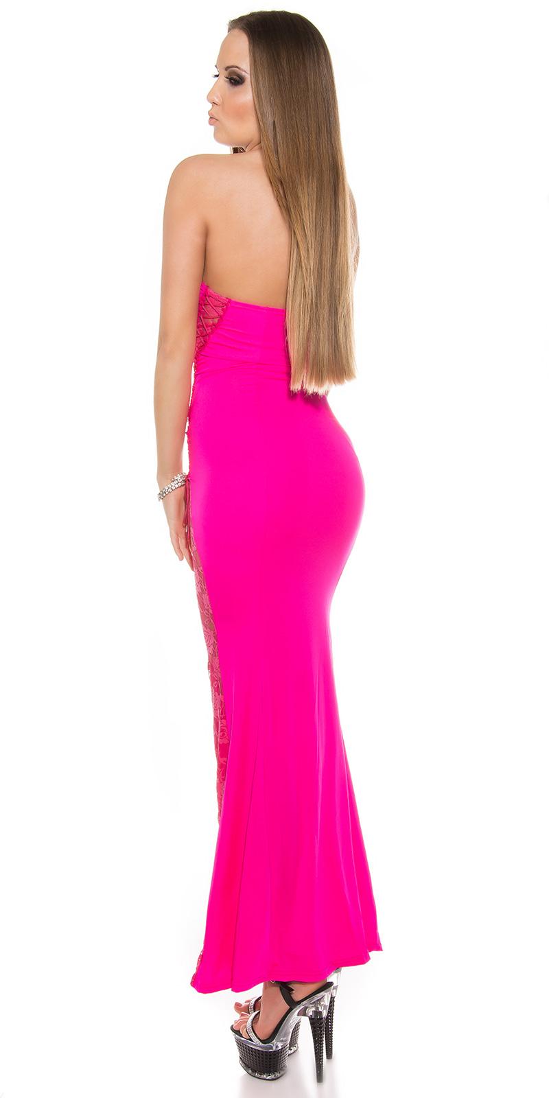 Dlouhé šaty 0000ISF-G5 - Pink