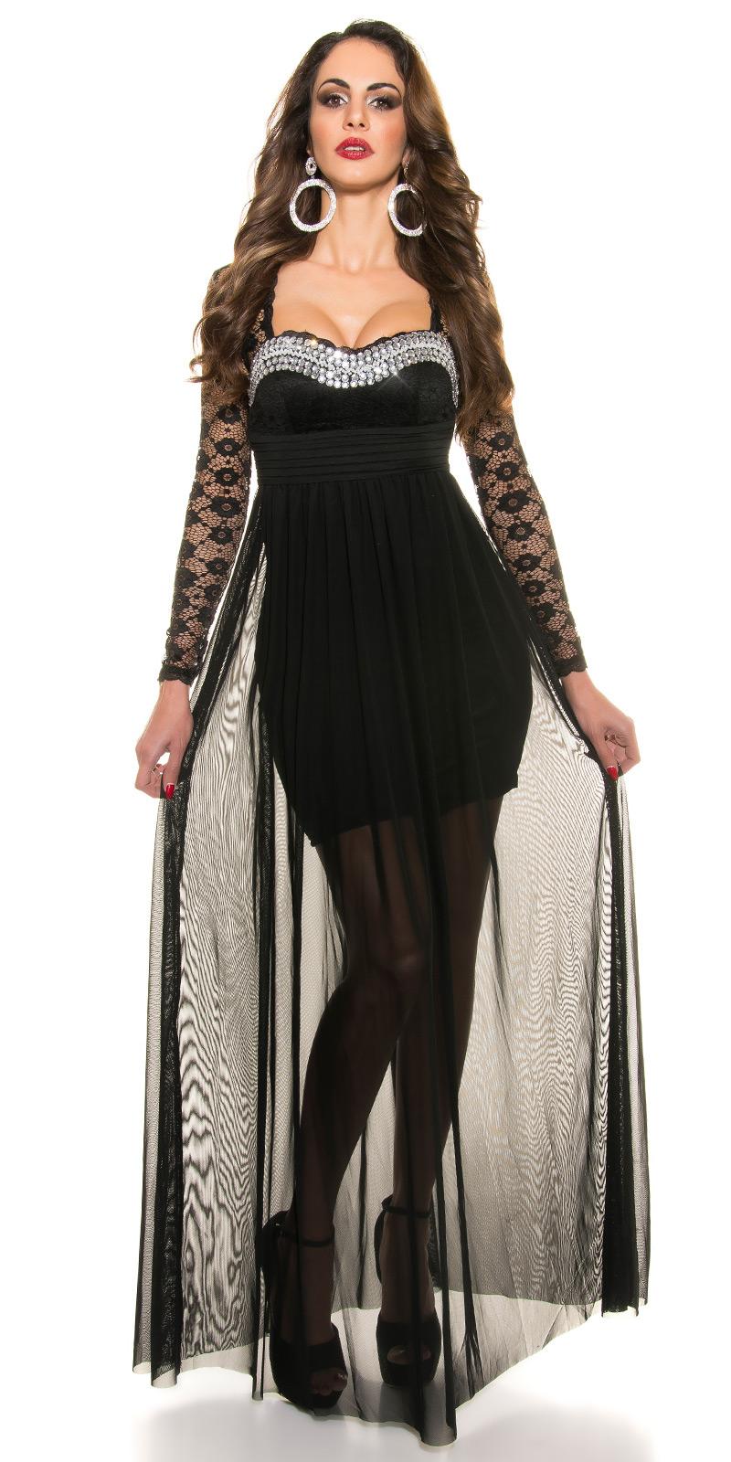 Plesové šaty 0000K9141 - Black