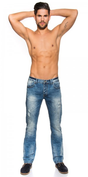 Trendy Light washed Jeans Used Look