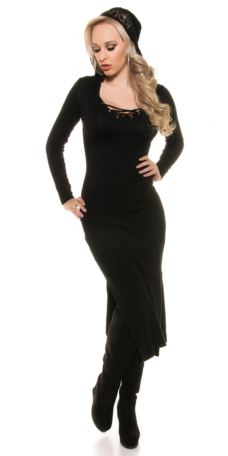 Šaty s dlouhým rukávem 0000ISF8722 - Black