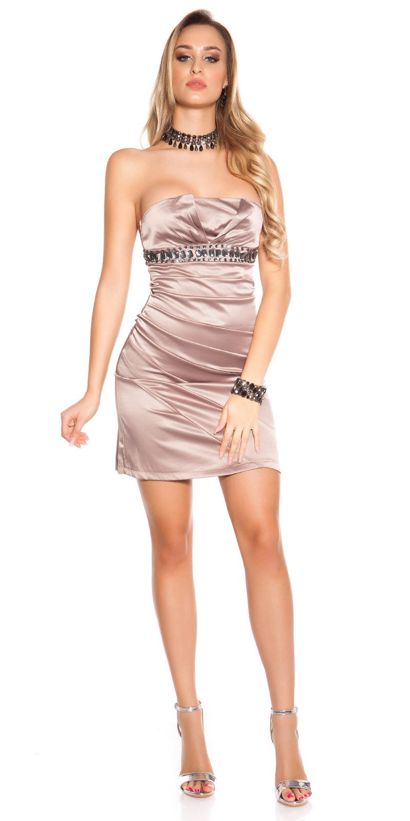 Koktejlové šaty 0000C170-N - Capuccino