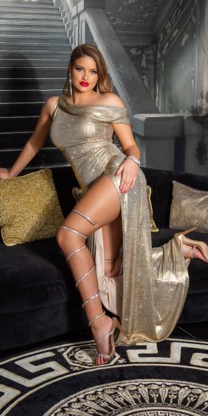 Sexy Koucla One-Shoulder GoddessKleid  XXL Schlitz