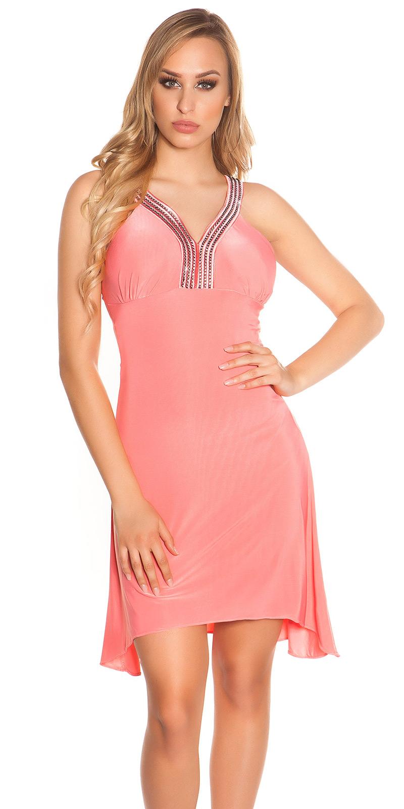 Plesové šaty 0000K4056 - Coral