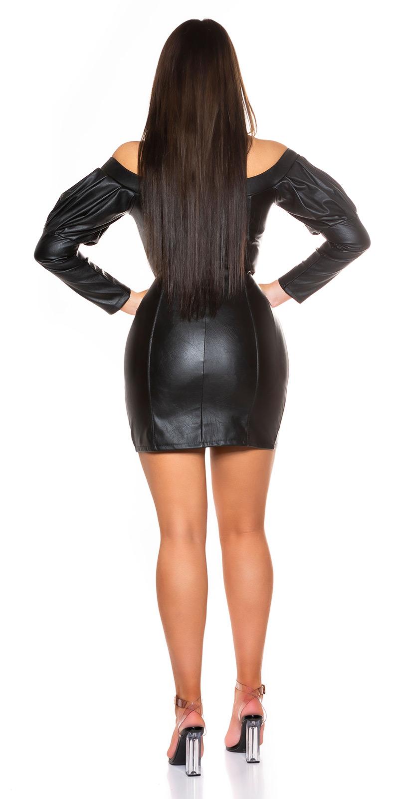 Šaty s dlouhým rukávem 0000A909 - Black