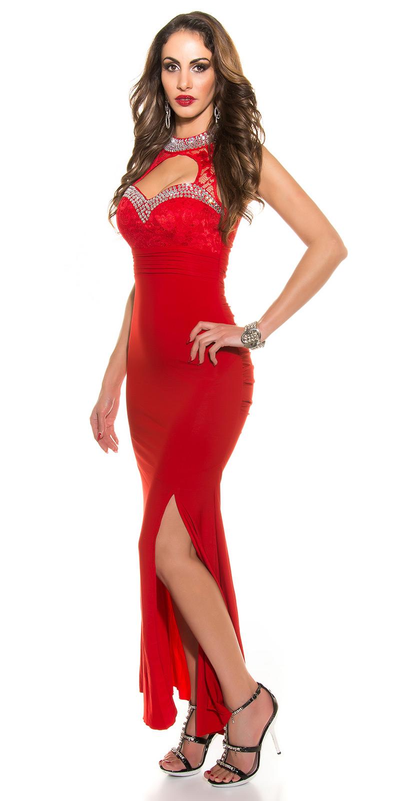 Plesové šaty 0000K9143 - red