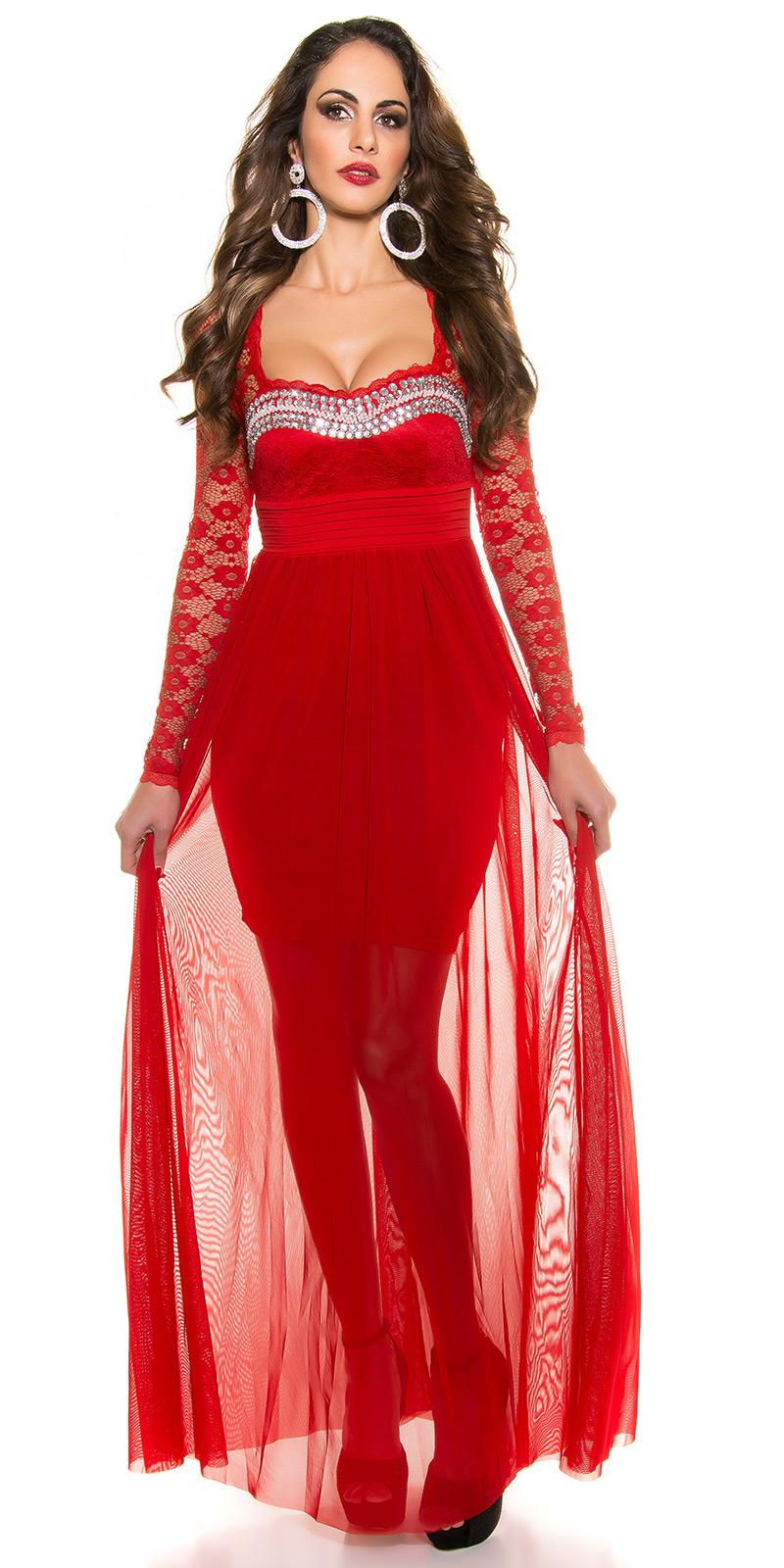 Plesové šaty 0000K9141 - red