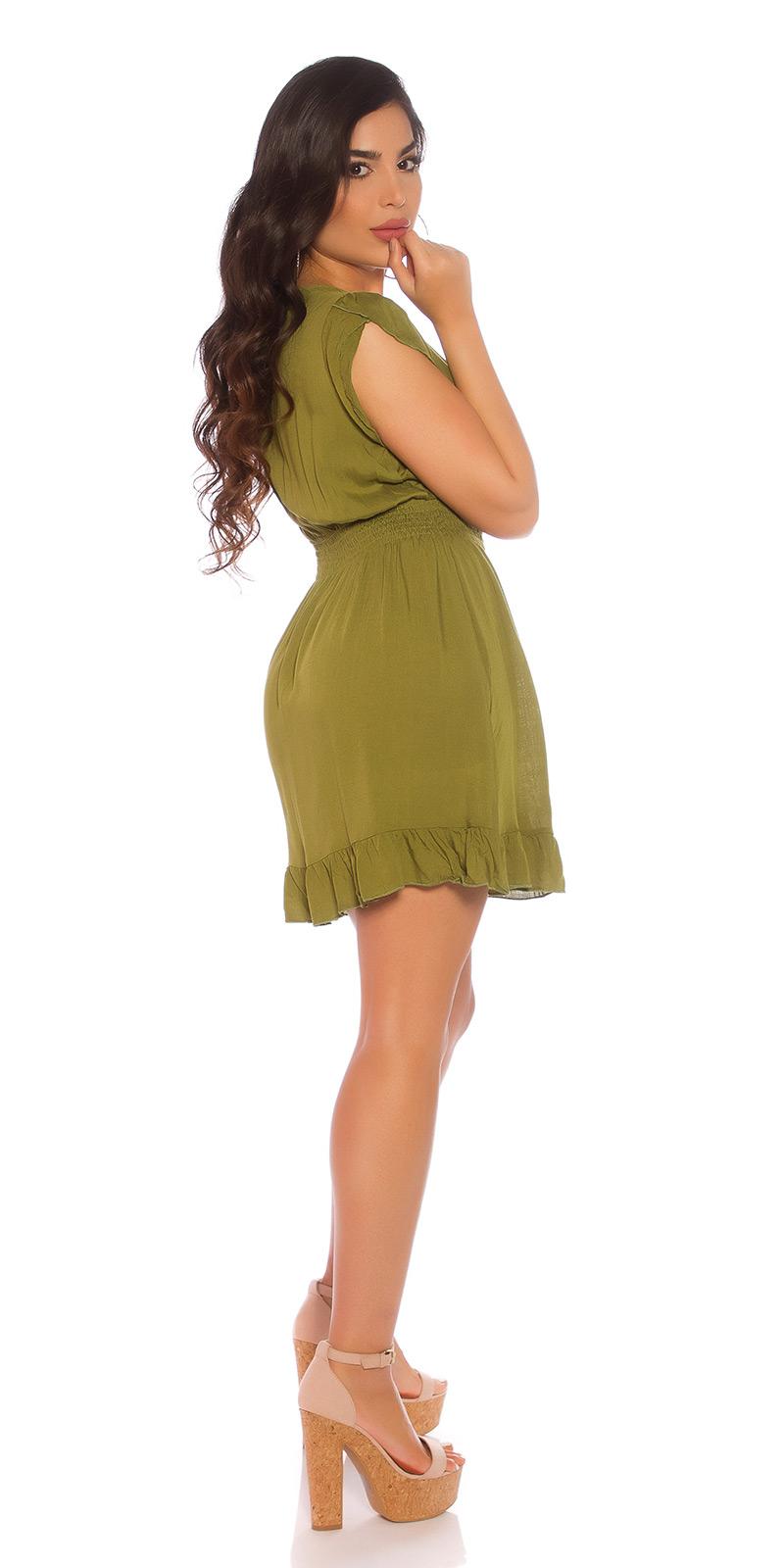 Krátké šaty 0000CM105 - green