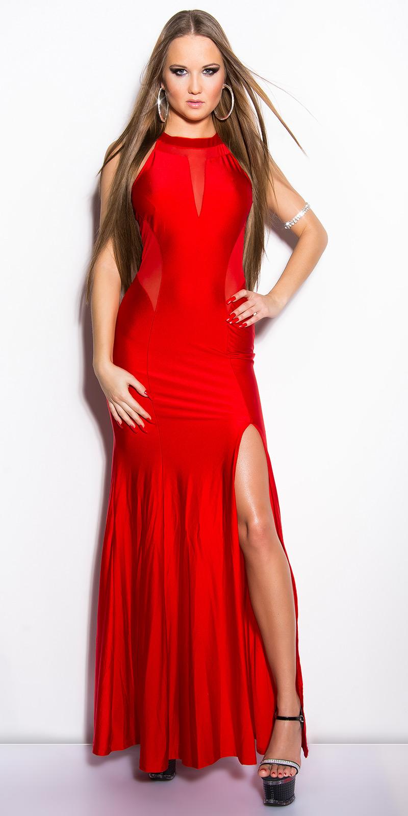 Dlouhé šaty 0000IN50366 - red