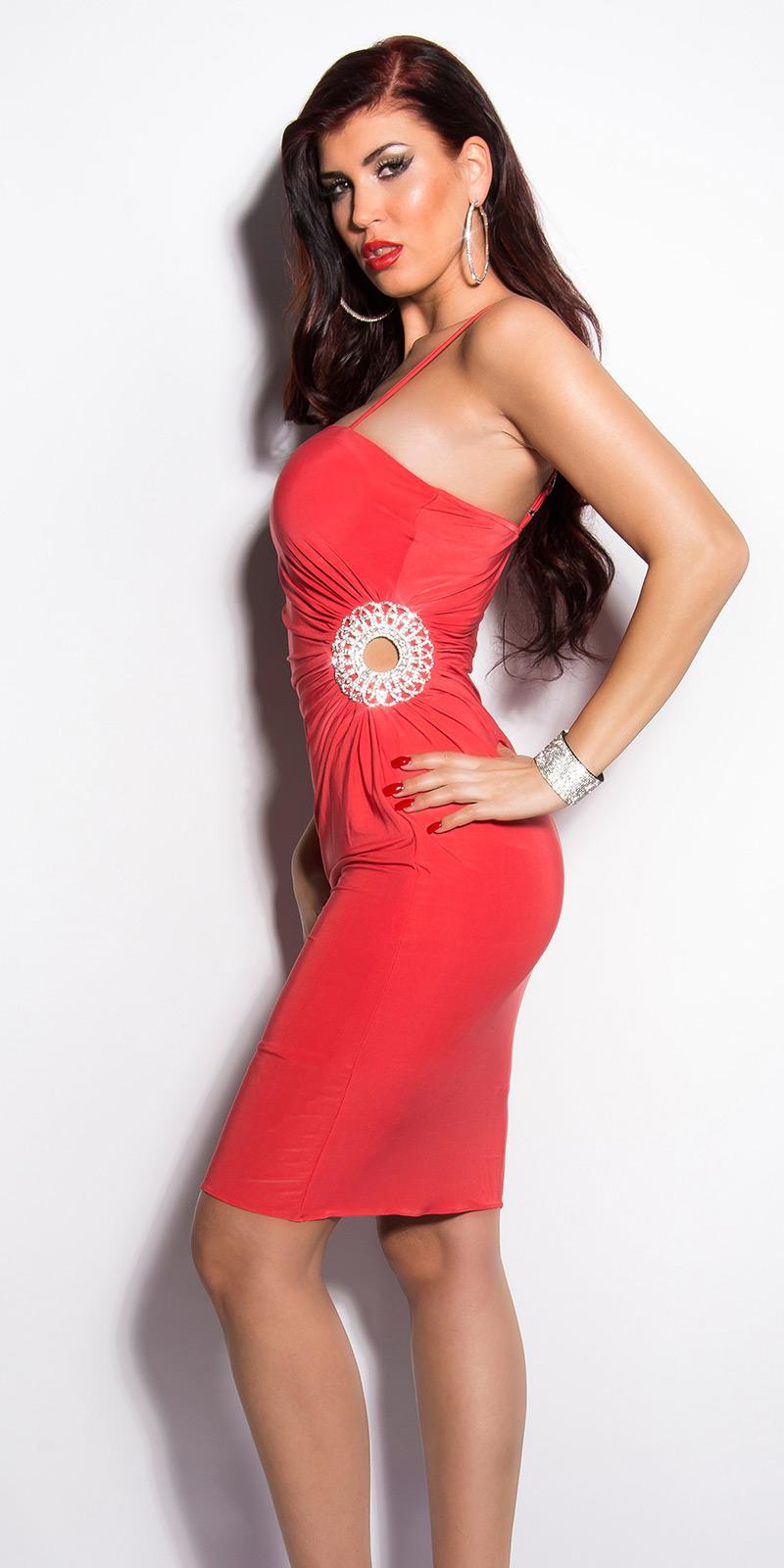 Plesové šaty 0000K4058 - raspberry