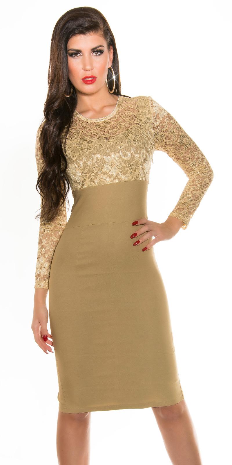 Plesové šaty 0000K9111 - champagne