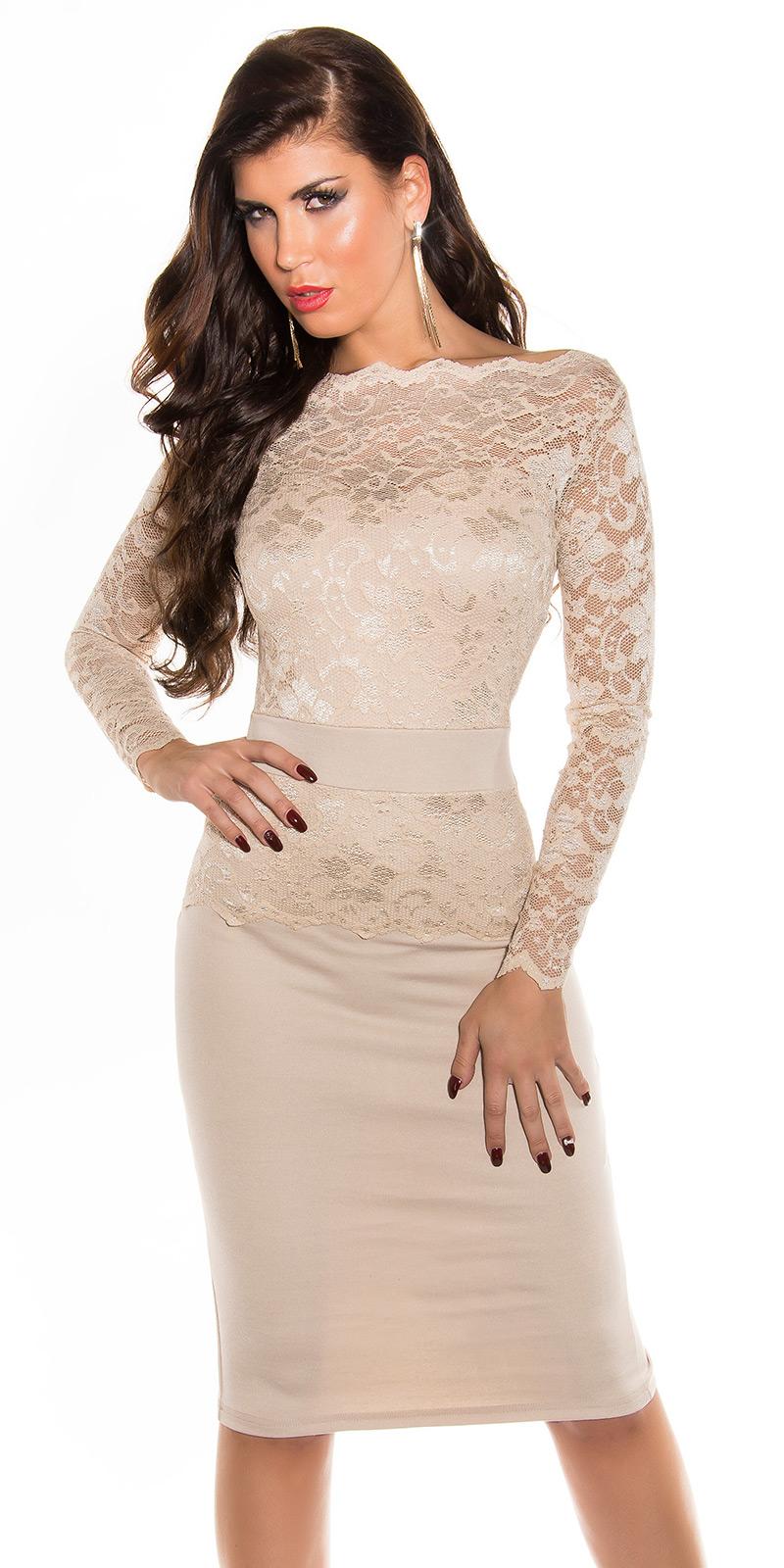 Dlouhé šaty 0000K18406 - Beige