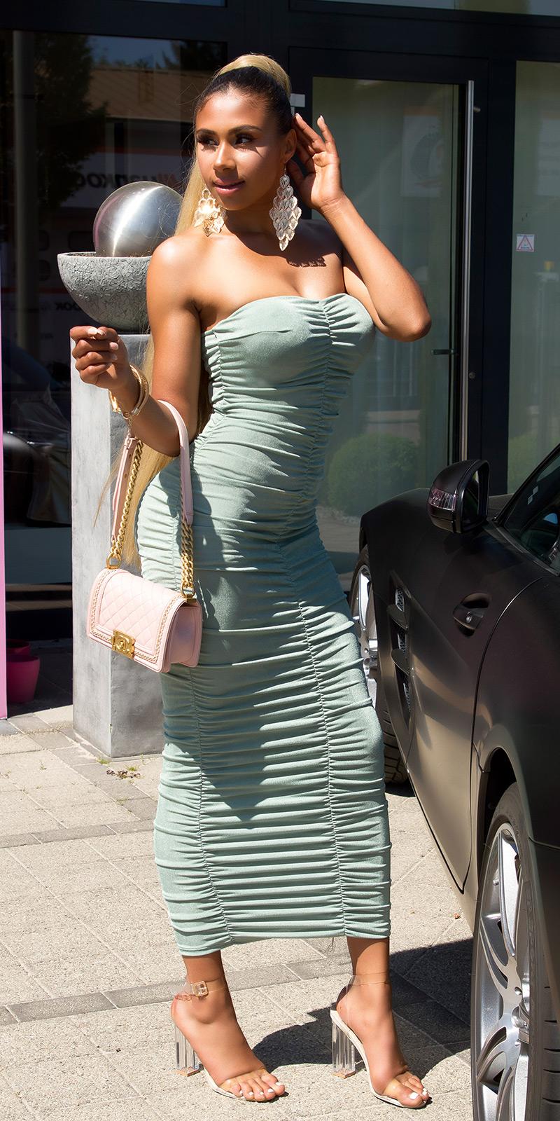 Dlouhé šaty 0000K14972 - Khaki
