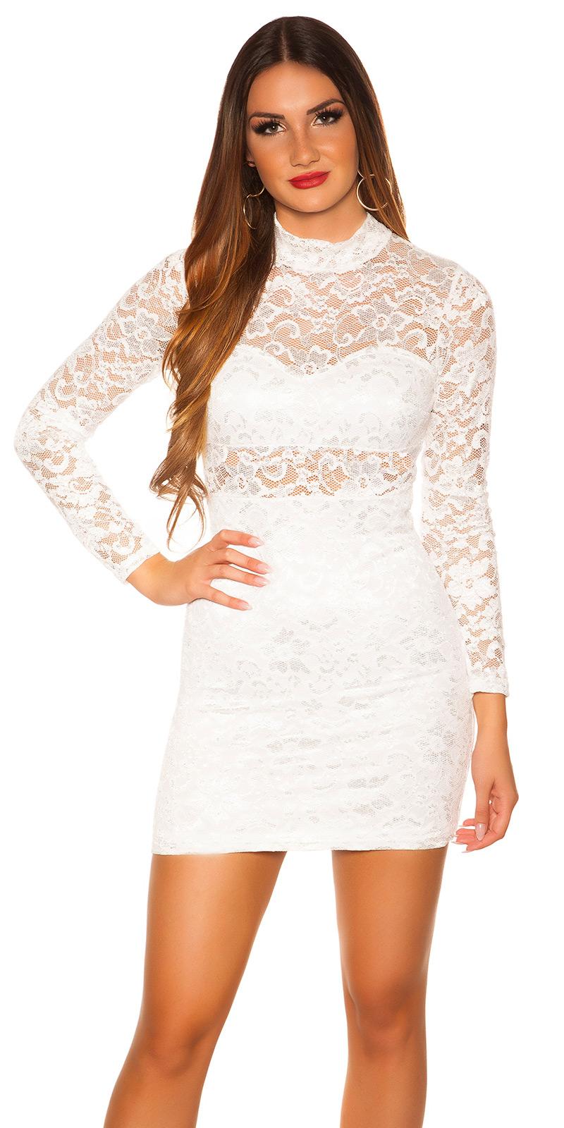 Šaty s dlouhým rukávem 0000IN50242 - white