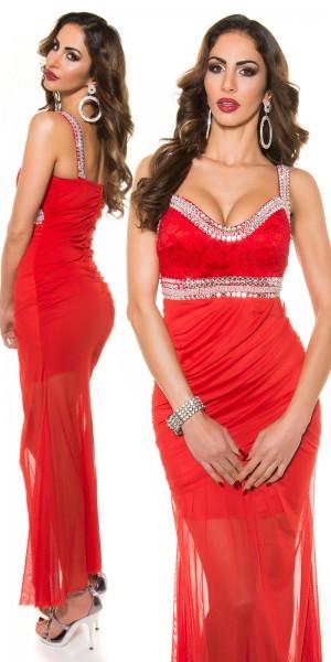 Red-Carpet-Look!Sexy Koucla Gala-kleid mit Perlen