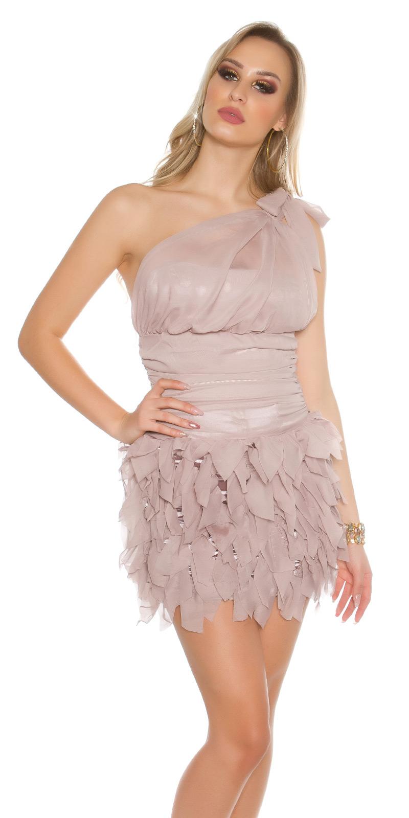 Koktejlové šaty 0000ISF1582 - Beige