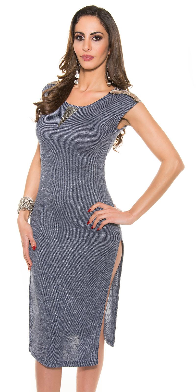 Dlouhé šaty 0000E039 - navy