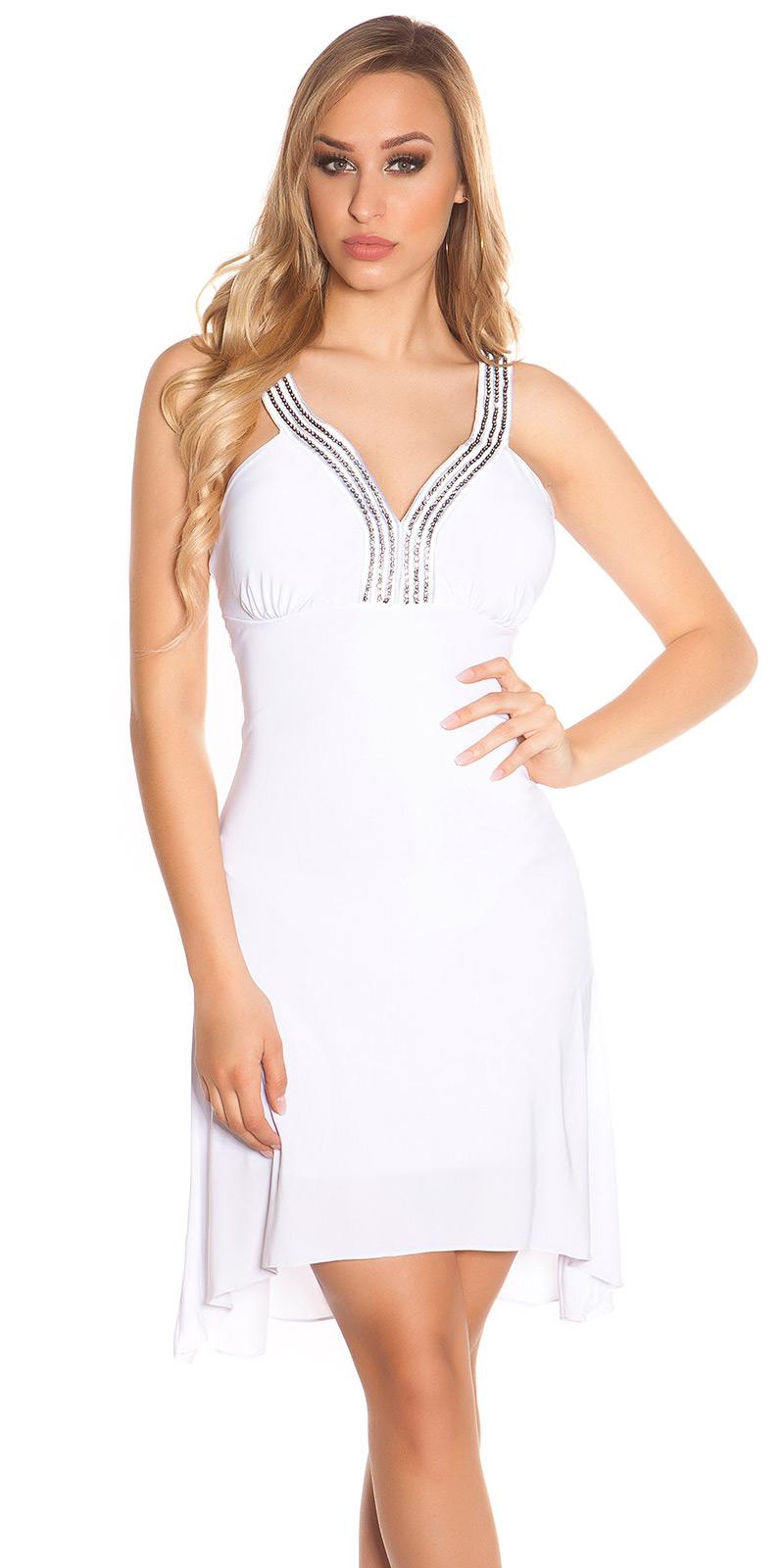 Plesové šaty 0000K4056 - white