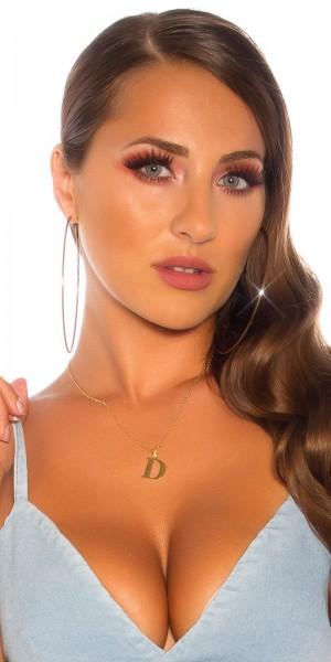Sexy Buchstaben Halskette  D