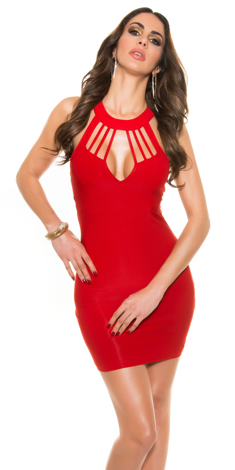 Krátké šaty 0000K18890 - red