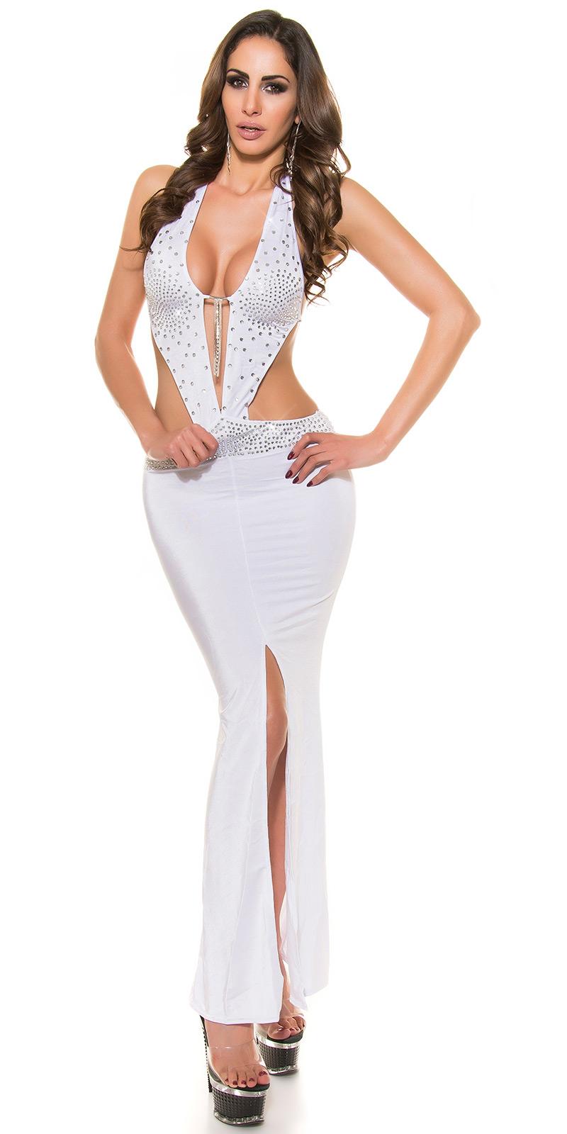 Dlouhé šaty 0000D13 - white
