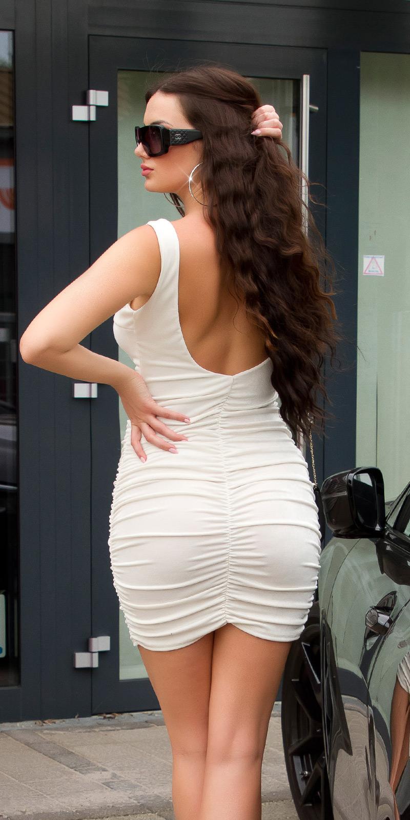 Krátké šaty 0000K15248 - Beige