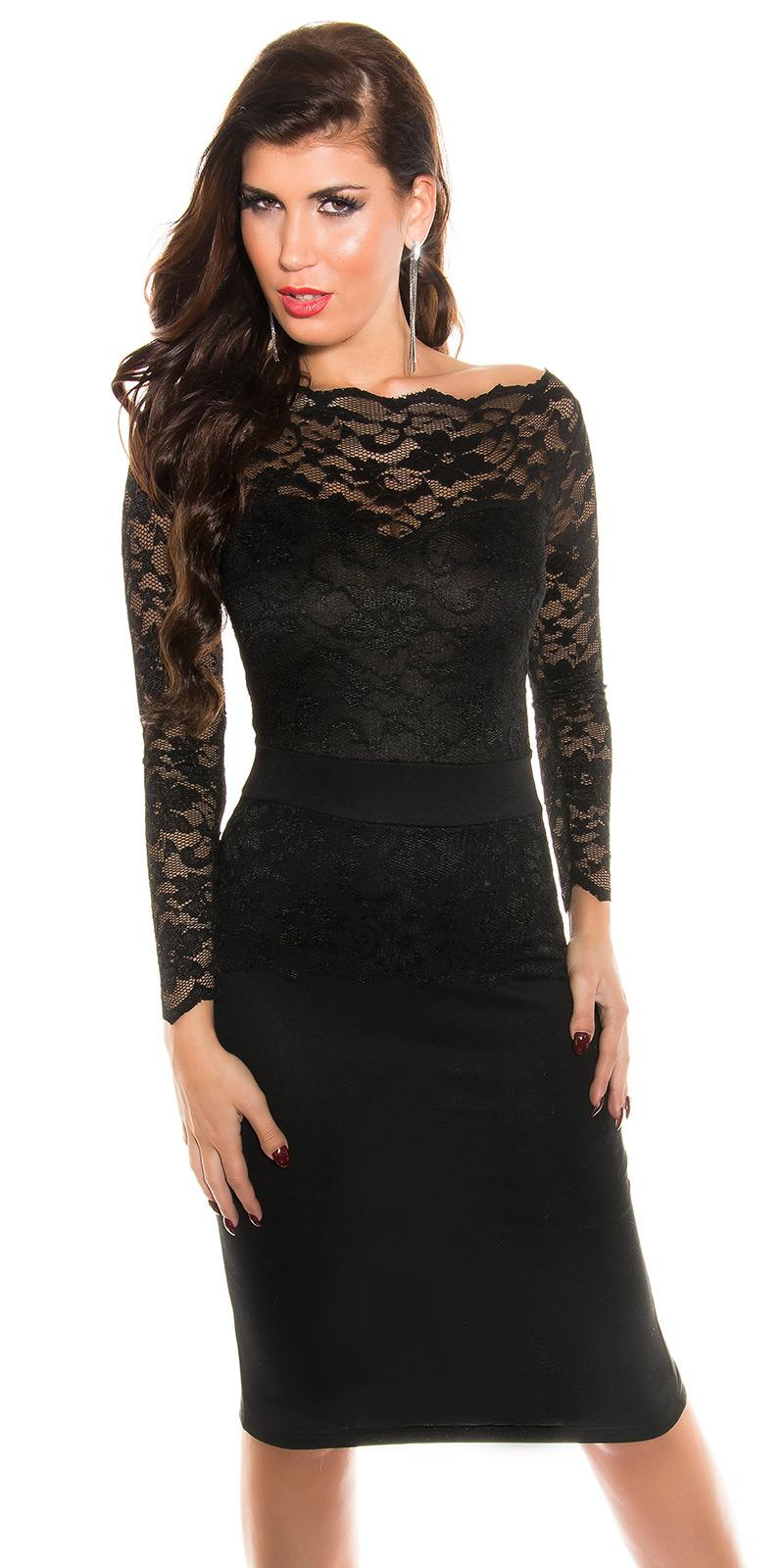 Dlouhé šaty 0000K18406 - Black
