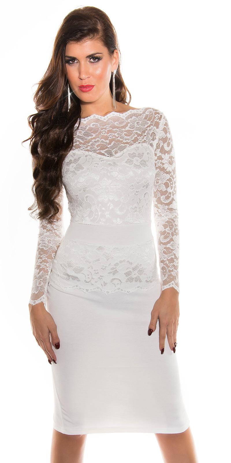 Dlouhé šaty 0000K18406 - white