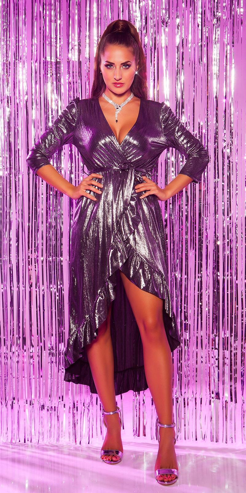 Plesové šaty 0000K3521 - silver