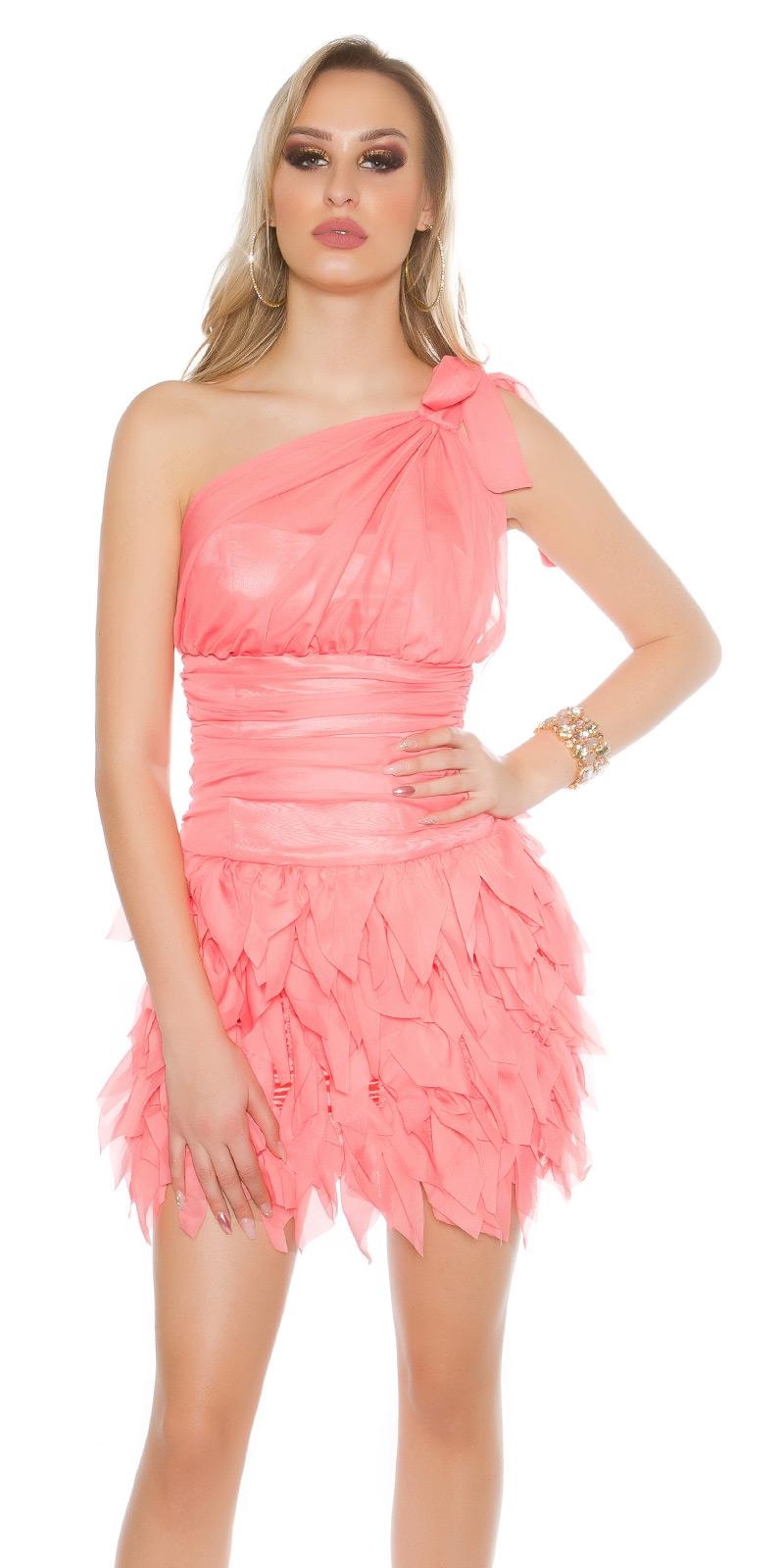 Koktejlové šaty 0000ISF1582 - Coral