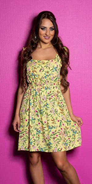Sexy Träger Minikleid mit Blumenprint